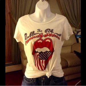 Rolling Stones Tour of America '78 Flag Band Tee